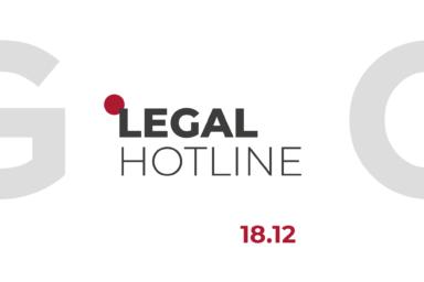 LEGAL HOTLINE 18.12.2020