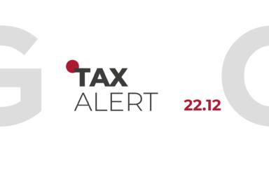 TAX ALERT 22.12.2020