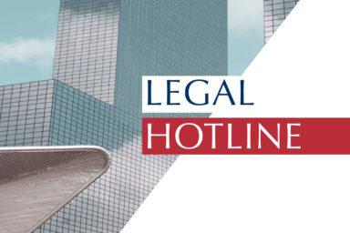 Legislative news digest: LEGAL HOTLINE 01.08.2019