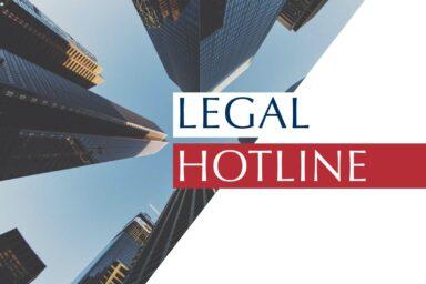 LEGAL HOTLINE 26.09.2019