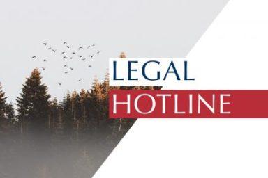 LEGAL HOTLINE 22.11.2018