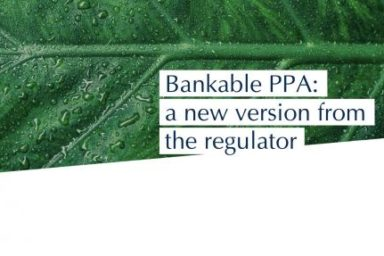 Bankable PPA: A new version from the regulator