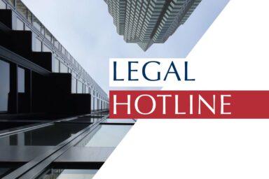 Legislative news digest: LEGAL HOTLINE 10.10.2019