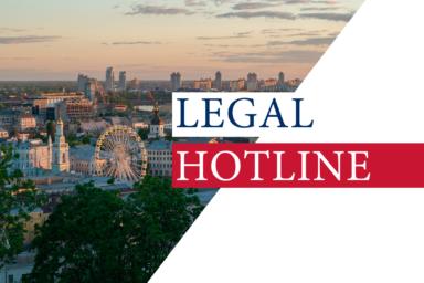 LEGAL HOTLINE 25.06.2020