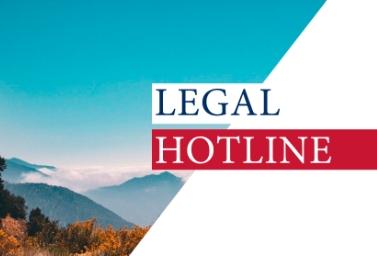LEGAL HOTLINE 13.08.2020