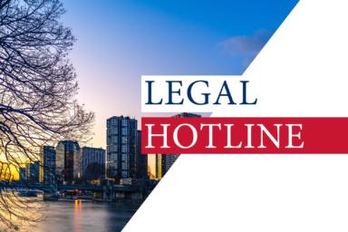LEGAL HOTLINE 25.09.2020