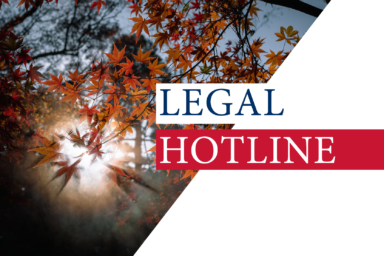 Legislative news digest: LEGAL HOTLINE 10.09.2020
