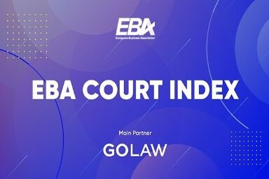 GOLAW is the main partner of the annual European Business Association Court Index survey