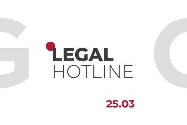 LEGAL HOTLINE 25.03.2021