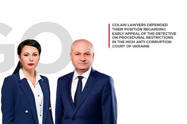 GOLAW lawyers defended their position in a complex criminal proceeding